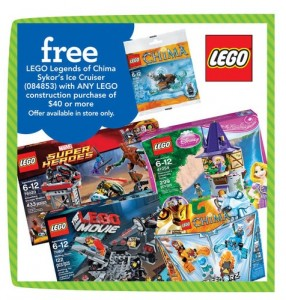 ToysRUs USA LEGO Sykor's Ice Cruiser Chima Polybag September Promotion