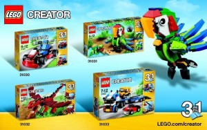 2015 January LEGO Creator Set Pictures 31030 31031 31032 31033