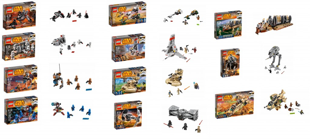2015 January LEGO Star Wars Set Pictures 75078 75079 75080 75081 75082 75083 75084 75086 75088 75089 75090
