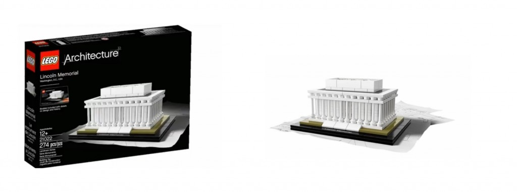 2015 LEGO Architecture 21022 Lincoln Memorial, Washington DC