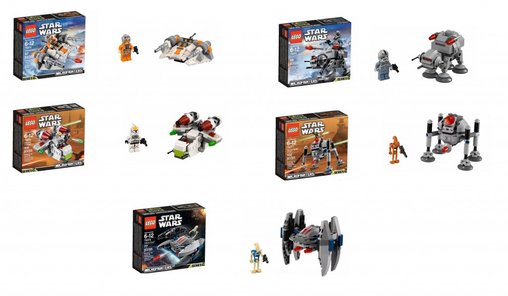 2015 LEGO Star Wars Microfighters Set Pictures 75073 75074 75075 75076 75077