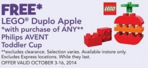 BabiesRUs ToysRUs LEGO Duplo Apple October 2014 Sale Promotion