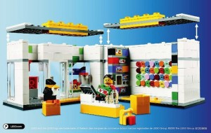 LEGO 40145 Brand Store 2014 Exclusive 2nd Edition Interior Back Instructions