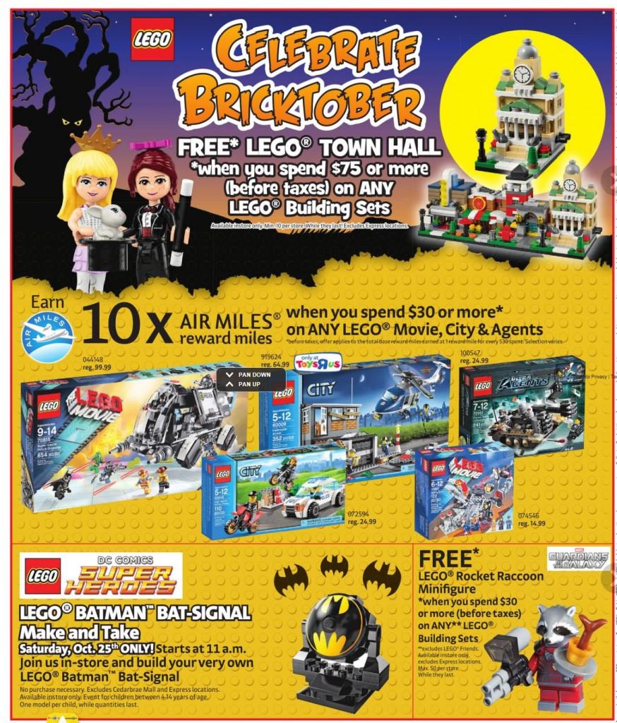 LEGO Bricktober 2014 ToysRUs Canada Sale