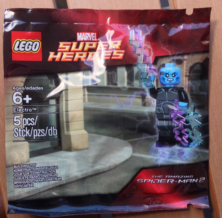 LEGO Electro Minifigure Amazing Spider Man 2 Movie October 2014 Kids Fest
