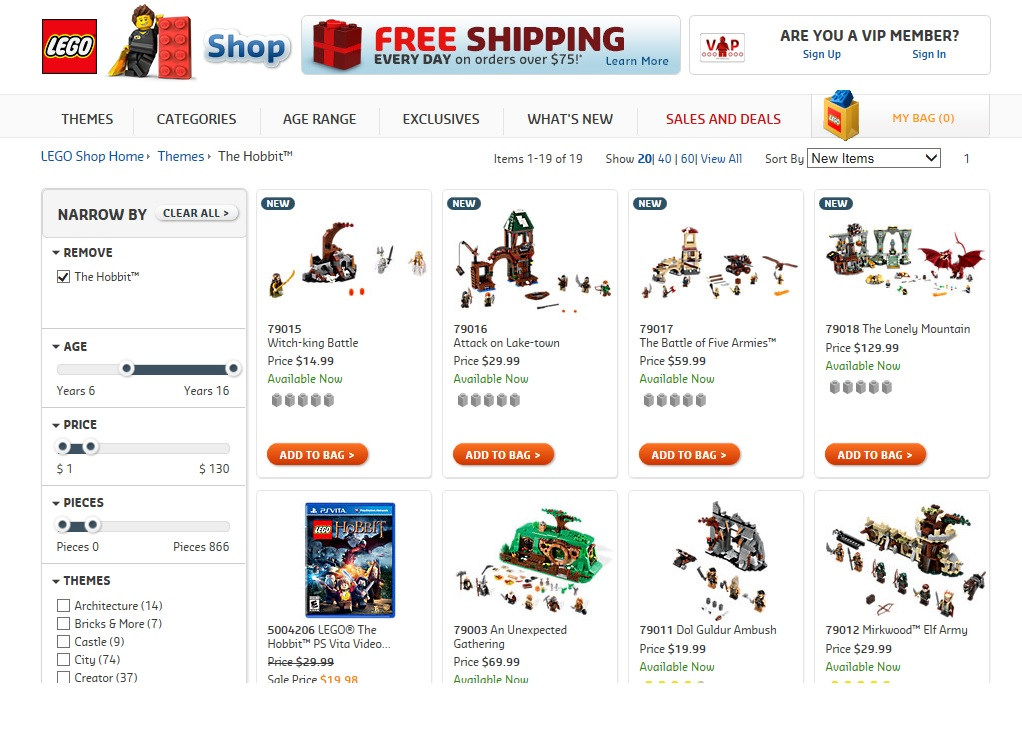LEGO Hobbit October Fall 2014 Sets 79015 79016 79017 79018