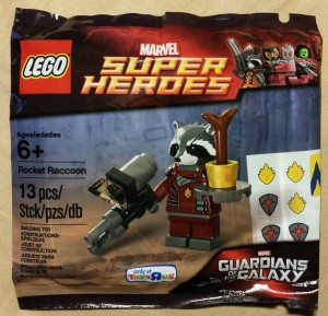 LEGO Rocket Racoon Minifigure Guardians of the Galaxy Super Heroes Marvel Polybag 5002145