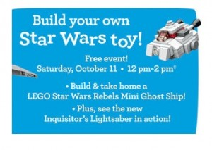 ToysRUs USA Rebel Mini Ghost Ship Free Mini Build October 2015