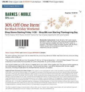 Barnes & Nobles LEGO Black Friday 2014 Sales & Coupons