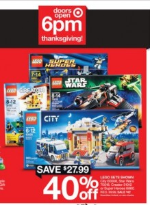 Target USA 2014 LEGO Black Friday Sales & Deals