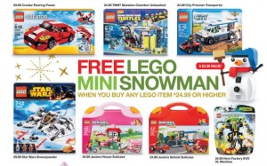Target USA LEGO Snowman Polybag Promotion November 2014