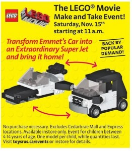 ToysRUs Canada LEGO Movie Building Event November 2014 - Toysnbricks