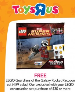 ToysRUs USA LEGO Guardians of the Galaxy Rocket Raccoon November 2014 Promotion