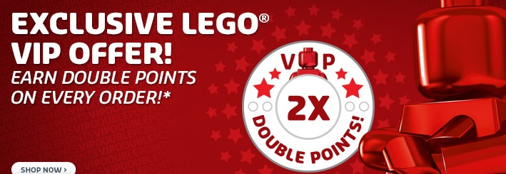 Double VIP Points LEGO December 2014 Banner