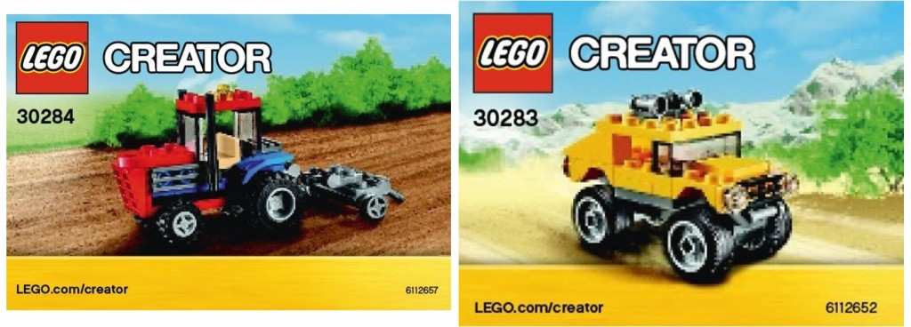 2015 LEGO Creator Polybags 30284 Off-Road 30283 Tractor
