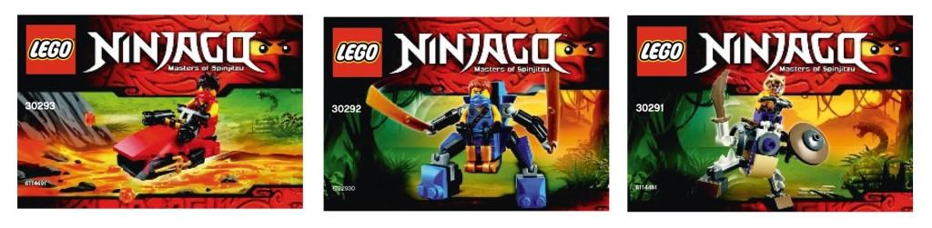 2015 LEGO Ninjago 30291 Anacondrai Battle Mech 30292 Jay Nano Mech 30293 Kai Drifter Polybag Sets