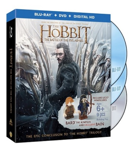 Hobbit Battle of Five Armies (Blu-ray & DVD) Target Exclusive LEGO Bard Bowman & Bain Minifigure - Toysnbricks