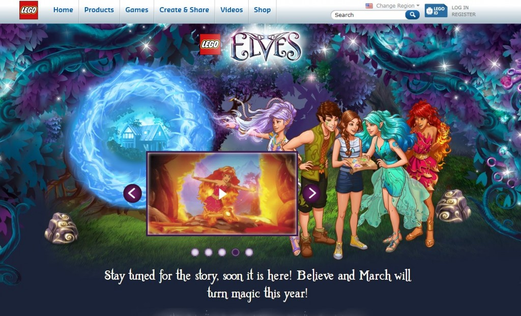 LEGO Elves 2015 Microsite March
