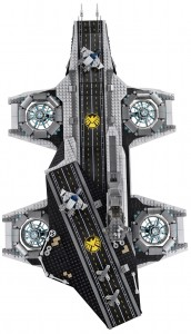 LEGO Marvel Super Heroes 76042 SHEILD Helicarrier Top High Resolution - Toysnbricks