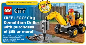 LEGO Store & Online February 2015 Sale Offer Promotion