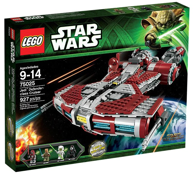 75025 LEGO Star Wars Jedi Defender-class Cruiser - Toysnbricks
