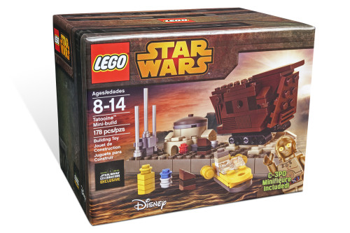 April 2015 LEGO Star Wars Celebration Anaheim California LEGO Star Wars Tatooine Mini-build