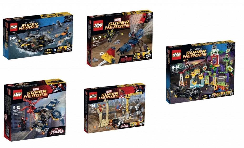 DC Marvel LEGO Super Heroes 2015 Summer Sets 76034 76035 76036 76037 76039 - Toysnbricks