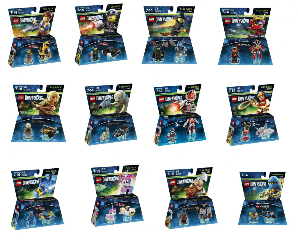 LEGO Dimensions Fun Packs Movie, Ninjago, Lord of the Rings 71209 71212 71213 71214 71215 71216 71218 71219 71210 71220 71221 71231 - Toysnbricks