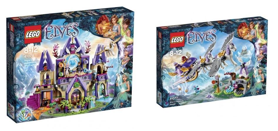 LEGO Elves 41078 Skyra's Mysterious Sky Castle 41077 Aira's Pegasus Sleigh Sets - Toysnbricks