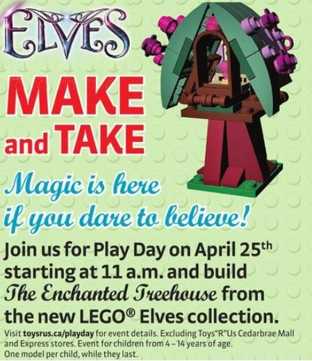 LEGO Elves Building Event April 2015 ToysRUs Canada - Toysnbricks