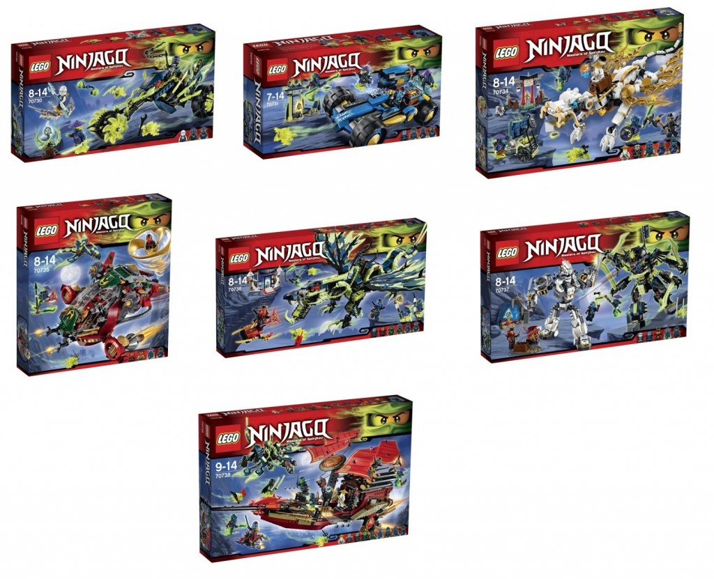 LEGO Ninjago 2015 Sets Summer 70730 70731 70734 70735 70736 70737 70738 - Toysnbricks