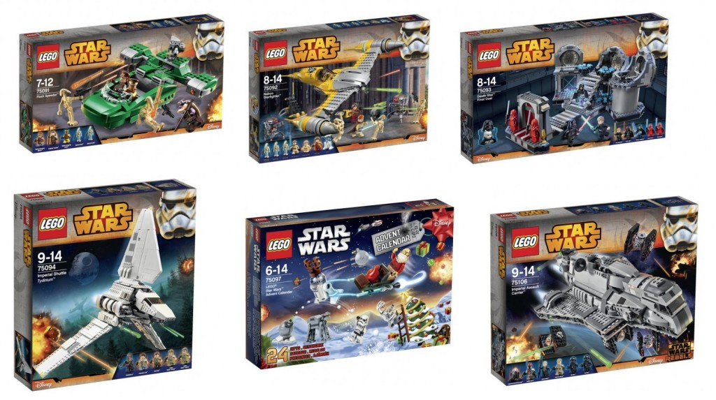 LEGO Star Wars 75091 75092 75093 75094 75097 75016 Set Pictures Box - Toysnbricks