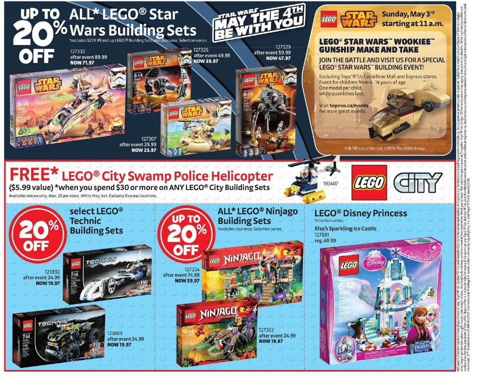 LEGO Star Wars May the Force be with you 2015 ToysRUs Canada Sale