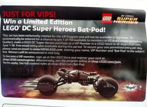 LEGO Super Heroes Bat Pod Set VIP Exclusive June 2015