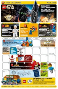 May 2015 LEGO Retail Brand Store Calendar - Toysnbricks