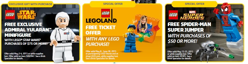 May 2015 LEGO Sales, Promotions and Offers - Toysnbricks