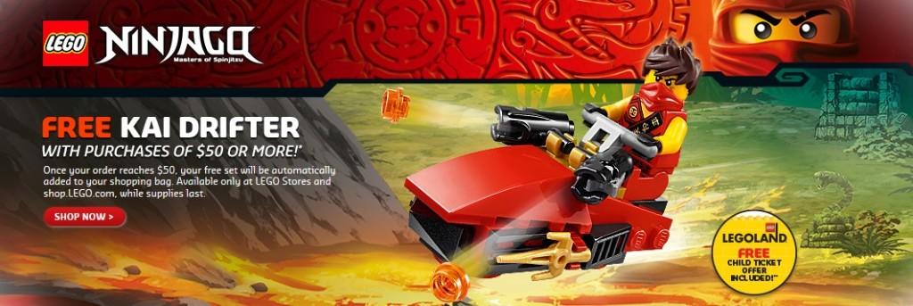 Ninjago LEGO April 2015 Promotion Kai Drifter Polybag set