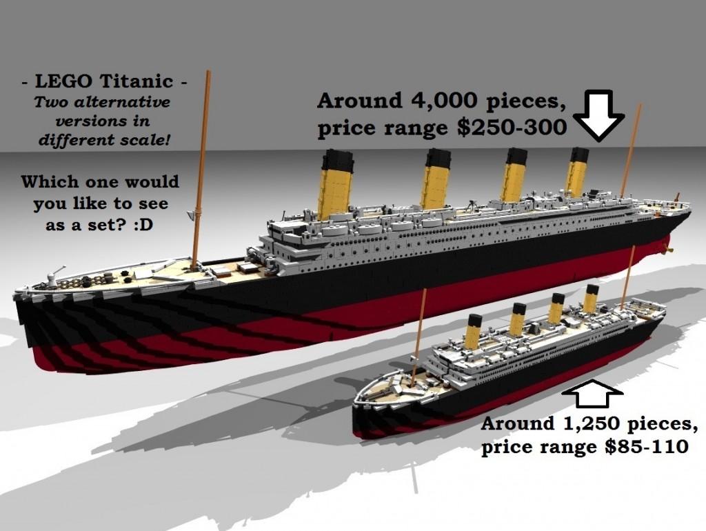 Potential LEGO Ideas Set RMS Titanic Creation by ssorg April 2015