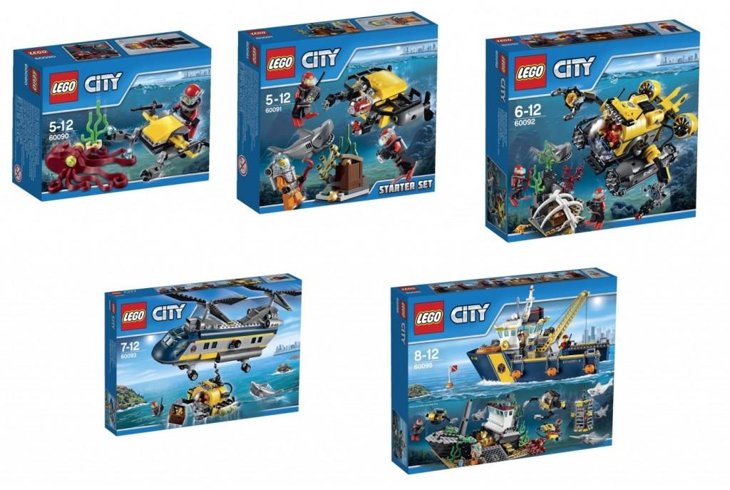 Summer 2015 LEGO City Deep Sea Sets 60090 60091 60092 60093 60095 - Toysnbricks