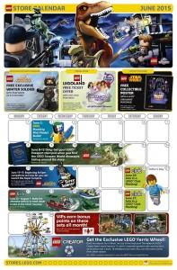 June 2015 LEGO Store Calendar - Toysnbricks