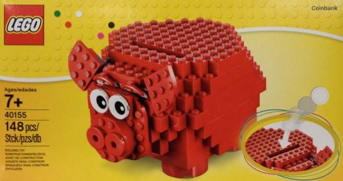 LEGO 40155 Piggy Coinbank Pre 40153 Birthday Cake