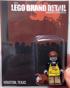 LEGO Brand Retail Store Manager Conference May 2015 Exclusive Zombie Minifigure Employee Gift