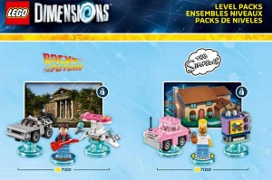 LEGO Dimensions 71201 Back to the Future & 71202 The Simpsons Level Packs