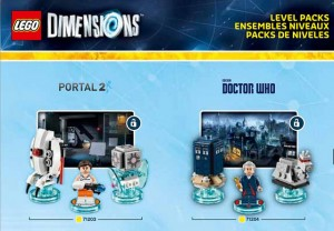 LEGO Dimensions 71203 Portal Two & 71204 Doctor Who Level Packs (Pre)