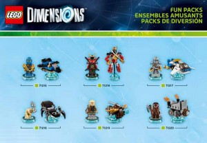 LEGO Dimensions Fun Packs 71215 71216 71217 71218 71219 71220 (Pre)