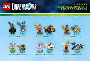 LEGO Dimensions Fun Packs 71221 71222 71223 71227 71231 71232 (Pre)