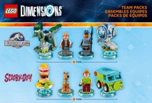 LEGO Dimensions Jurassic World 71205 & Scooby-Doo 71206 Team Packs (Pre)