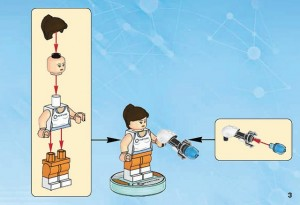 LEGO Portal 2 Dimensions Pack 71203 Minifigure Instructions