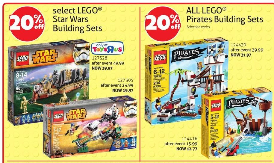 ToysRUs Canada LEGO Star Wars Pirates Sale June 2015
