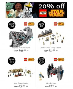 ToysRUs UK May the Force Be With You May 2015 LEGO Star Wars Sale